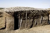 foto of mud-hut  - huts made of mud and earth  - JPG