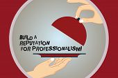 Conceptual Hand Writing Showing Build A Reputation For Professionalism. Business Photo Text Be Profe poster