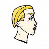 Постер, плакат: блондин человек головы мультфильм