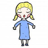 singing girl cartoon