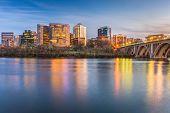 Rosslyn, Arlington, Virginia, USA skyline on the Potomac River. poster
