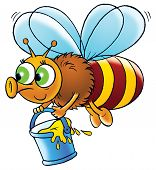 foto of honey-bee  - clip - JPG