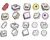 all sorts sweets cartoon collection