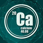 Calcium Chemical Element. Sign With Atomic Number And Atomic Weight. Chemical Element Of Periodic Ta poster