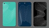 Set Fashionable Abstract Ornaments For Mobile Phone Cover And Screen . The Visible Part Of The Clipp poster