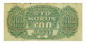 100 Koruna Bill Of Czechoslovakia, 1944
