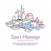 Spa Treatment Massage Salon Poster Background Design For Cosmetics Store Spa And Beauty Salon, Organ poster