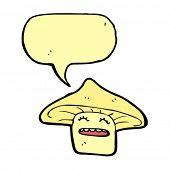 cartoon happy toadstool character