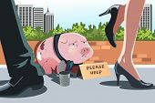 Piggy Bank Panhandling