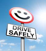 Concepto de conducción segura.