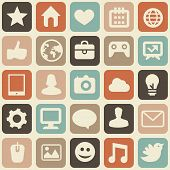 Vector Seamless Pattern With Social Media Icons
