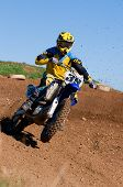 Motocross Rider Cornering Front Wheel Airborne
