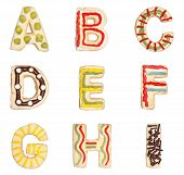 Letters A To I From Decorated Cookies