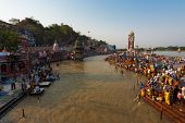 Hindus Bathing Ganges Holy River Haridwar India