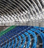 picture of bleachers  - Partial view of the bleachers at sports facility - JPG