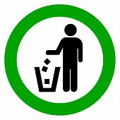 Keep clean, no littering vector sign