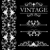 Vector vintage decor