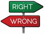Right and Wrong Signs