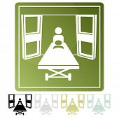 An image of an emergency room icon.