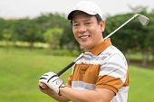 Постер, плакат: Профессиональный игрок в гольф