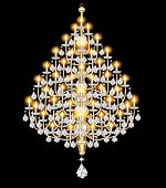 Figure Included Chandelier With Crystal Pendants