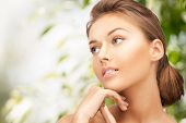 stock photo of cosmetology  - beauty and eco cosmetology concept  - JPG