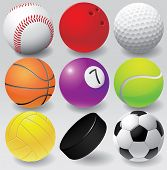 Sport balls vector illustration eps 8