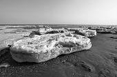 Küste Residual Eis Naturkulisse