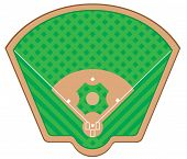 Baseball Field Vector Illustration