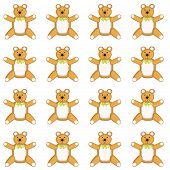 Medium Sized Skin Tone Teddy Bear Pattern