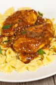 Delicious old Italian favorite chicken marsala with mushrooms