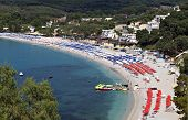 Valtos beach near Parga in Greece