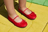 stock photo of wizard  - Rubis slippers on yellow brick road - JPG
