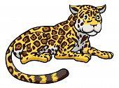 Jaguar gato de dibujos animados