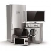 stock photo of refrigerator  - Home appliances - JPG