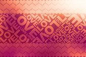 Love+heart Typographic Texture