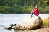 Teengirl near the river.