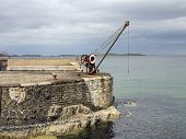 The Old Harbour And Winch Portrush Ireland