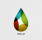 Colorful paper vector water drop