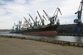 stock photo of sakhalin  - sea port in the south of Sakhalin Island - JPG