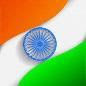 stock photo of indian independence day  - Indian Independence Day or Republic Day background with nation flag waving - JPG