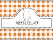 chicken blackboard lace menu restaurant ,cloth pattern vector