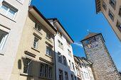 Tower With Zodiac Clock, Center Of Schaffhausen, Switzerland