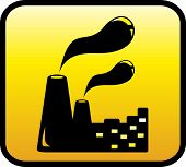 icon with factory symbol