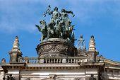 Opera House Statue In Dresden, Germany
