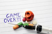 stock photo of methadone  - Game Over - JPG