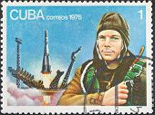First Astronaut Yuri Gagarin And Vostok Launch