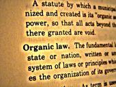 Dictionary Organic Law