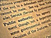 Dictionary Public Authority
