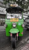 Bangkok - June 14: Tuk-tuk Moto Taxi On The Street In The Chinatown Area On June 14, 2011 In Bangkok